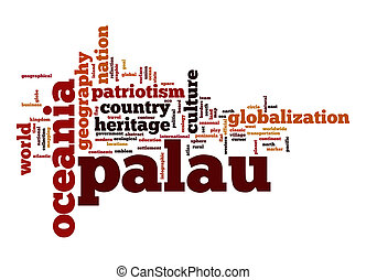 Palau word cloud