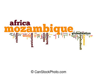 Mozambique word cloud