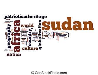 Sudan word cloud