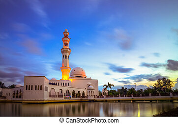 Tengku Tengah Nur Zaharah Mosque - A blue-hour shot at...
