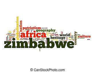 Zimbabwe word cloud