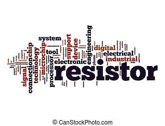 Resistor word cloud