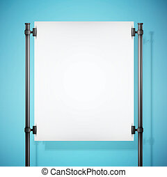 white paper board with empty space