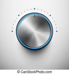 Volume button with metal texture - volume knob with metal...