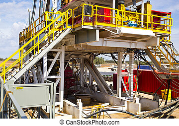 Land Drilling Rig Views - View of the land Drilling rig...