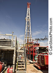 Land Drilling Rig Views - View from the back of the rig with...