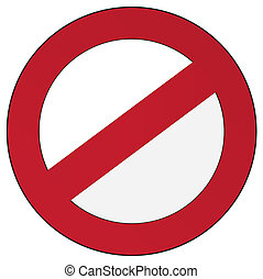 sign - vector restriction sign