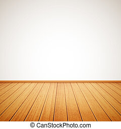 realistic wood floor and white wall eps10