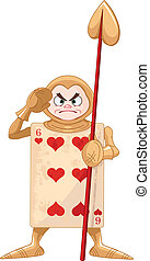 Queen of Hearts Guard from Wonderland story