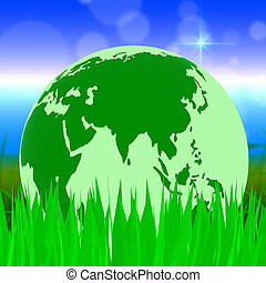 Global Nature Shows Planet Globally And Globalise - Nature...