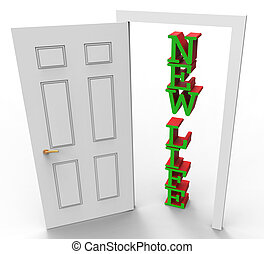 New Life Means Fresh Start And Doors - New Life Showing...