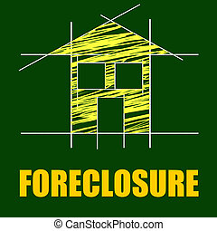 Foreclosure House Indicates Repayments Stopped And Apartment...