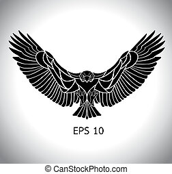 eagle vector - flying eagle vector in eps 10