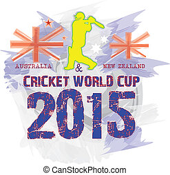 CRICKET WORLDCUP 2015 T-SHIR DESIGN