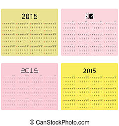 Calendar for 2015 on background Vector illustration