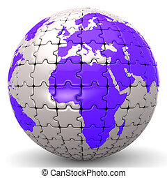 Globe World Means Jigsaw Puzzle And Global