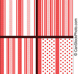 red striped polka dot patterns