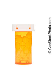 pills in bottle isolated - pills in bottle - generic...