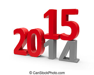 2014-2015 change represents the new year 2014,...