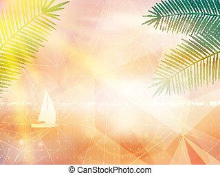 Abstract seaside view poster template EPS10