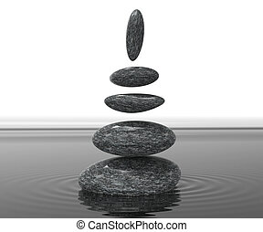 Spa Stones Means Serenity Wellness And Spirituality - Spa...