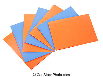 The colored sheets of paper
