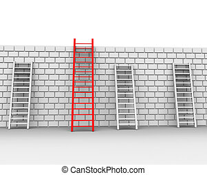 Brick Wall Shows Chalenges Ahead And Brickwall - Brick Wall...