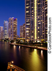 Downtown Miami - Miami luxury life style, Brickell financial...
