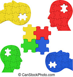 Think Puzzle Indicates Team Work And Consideration - Puzzle...