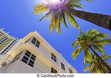Miami South Beach - Art Deco building in the Art Deco...