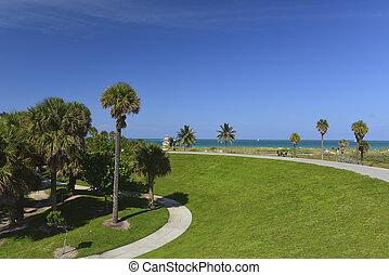 Miami South Beach tropical paradise
