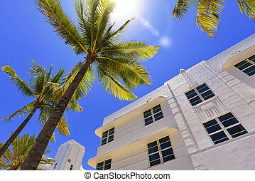 Miami South Beach - Art Deco building in the Art Deco...