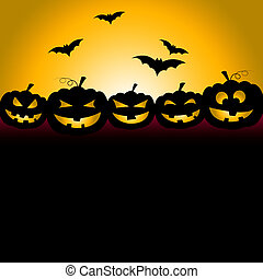 Bats Halloween Indicates Trick Or Treat And Celebration -...