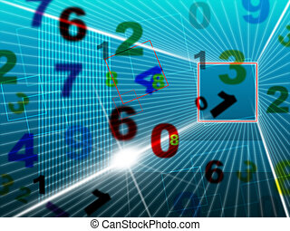 Numbers Digital Represents Hi Tech And College - Education...