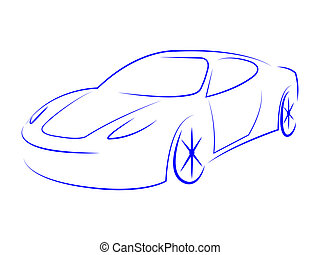 Illustration Modern Represents Sport Car And Automotive -...
