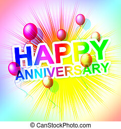 Happy Anniversary Represents Cheerful Greeting And Celebrate...