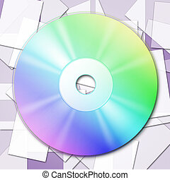 Cd Tech Shows Empty Space And Cd-Rw - Copyspace Tech Meaning...