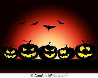 Bats Halloween Means Trick Or Treat And Pumpkin - Pumpkin...