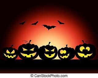 Bats Halloween Means Trick Or Treat And Pumpkin - Pumpkin...
