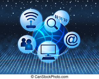 Social Media Indicates World Wide Web And Youtube - Social...