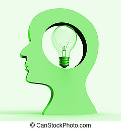 Light Bulb Indicates Think About It And Considering - Light...