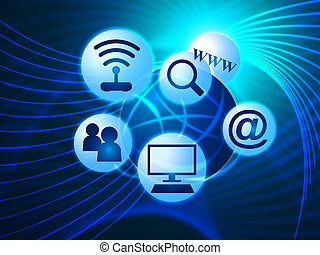 Social Media Shows World Wide Web And Blogging - Social...