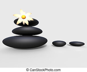 Spa Stones Means Bouquet Relaxation And Meditation - Spa...