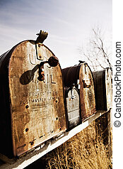 old American mailboxes in midwest - Old American mailboxes...