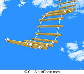 Ladder Climb Means Upwards