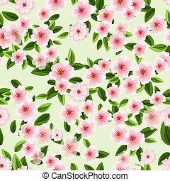 seamless texture of blossom cherry