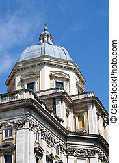 Basilica of Santa Maria Maggiore in Rome under blue sky -...