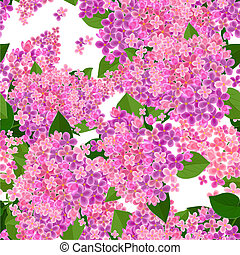 seamless texture with flowers of lilac