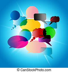 Clipart of Pillow Talk Means Talking Conversation And Discussion ...