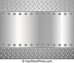 diamond metal background 2 - Pattern of metal texture...